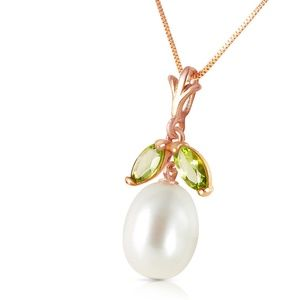 NECKLACE WITH NATURAL PEARL & PERIDOT